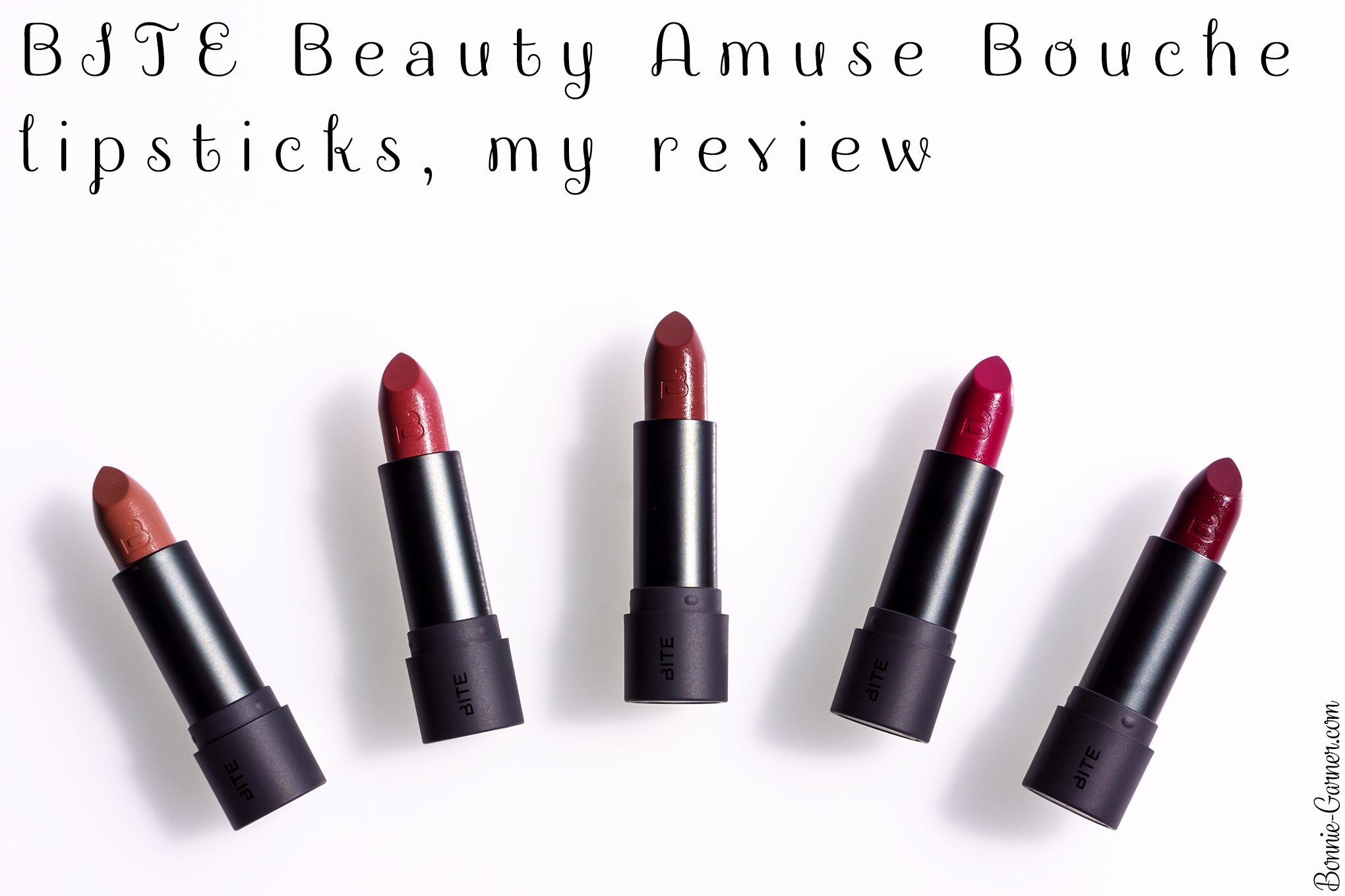 BITE Beauty Amuse Bouche lipsticks, my review