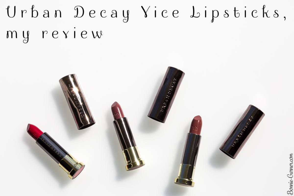 Urban Decay Vice lipsticks, my review
