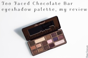 Too Faced Chocolate Bar eyeshadow palette, my review